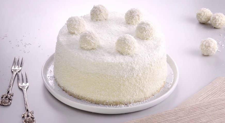 украшение тортов кокосовой стружкой фото разобраться